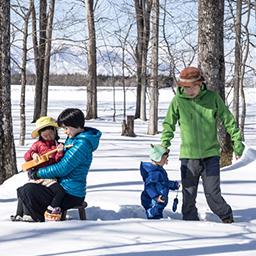 チームヤムヤム かんじき を作って ふかふかの雪の上を歩いてみよう Wild Mind Go Go